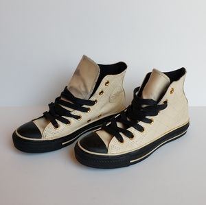 Converse All Star Leather Quilted Men Sz 4 HITop 1